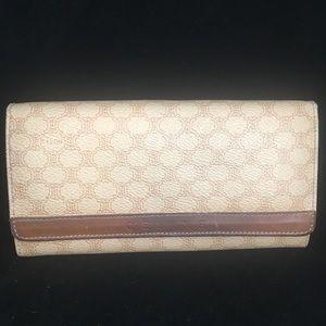 Celine VTG Leather/Canvas Long Wallet Used